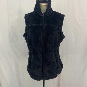 Free Country Black Teddy Bear Full Zip Vest